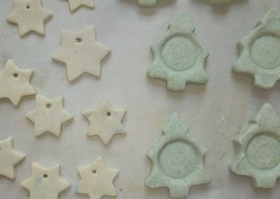 Salzteigsterne, Teelichthalter